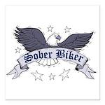sober-biker Square Car Magnet 3