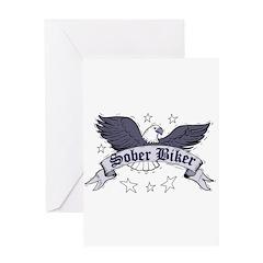 sober-biker Greeting Cards