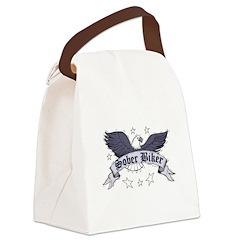 sober-biker Canvas Lunch Bag