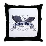 sober-biker Throw Pillow