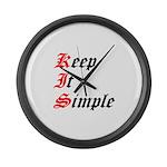 keep-it-simple Large Wall Clock