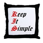 keep-it-simple Throw Pillow