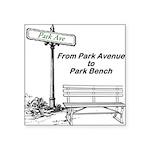 park-avenue-park-bench Sticker