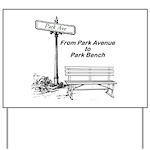 park-avenue-park-bench Yard Sign