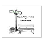 park-avenue-park-bench Posters