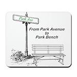 park-avenue-park-bench Mousepad