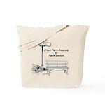 park-avenue-park-bench Tote Bag