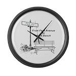 park-avenue-park-bench Large Wall Clock