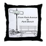 park-avenue-park-bench Throw Pillow