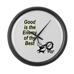 good-enemy-best Large Wall Clock