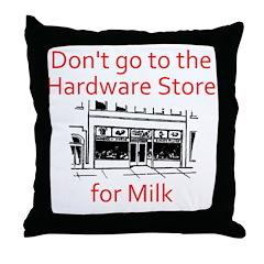 hardware-store-milk Throw Pillow