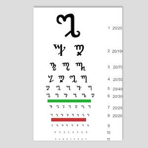 Snellen Theban Eye Chart Postcards (package Of 8)