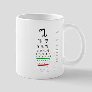 Snellen Theban Eye Chart Mugs