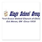kings-street-group Square Car Magnet 3