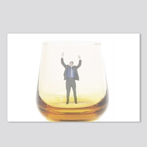 man-in-glass Postcards (Package of 8)