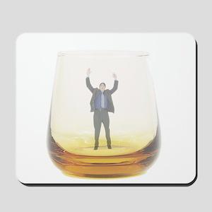 man-in-glass Mousepad