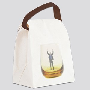 man-in-glass Canvas Lunch Bag