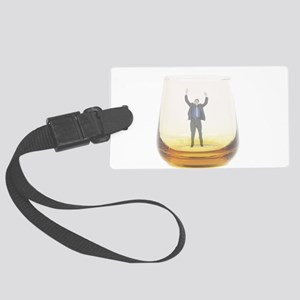 man-in-glass Luggage Tag