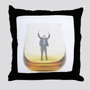 man-in-glass Throw Pillow