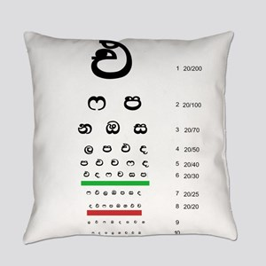 Snellen Sinhala Eye Chart Everyday Pillow