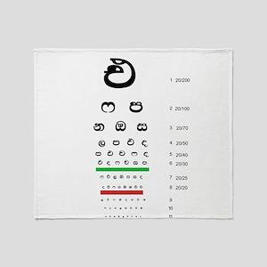 Snellen Sinhala Eye Chart Throw Blanket