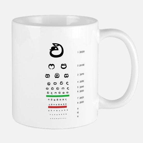 Snellen Sinhala Eye Chart Mugs