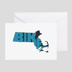 Bike Massachusetts Greeting Card