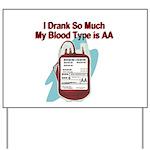 blood-type Yard Sign