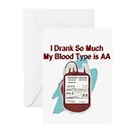 blood-type Greeting Cards