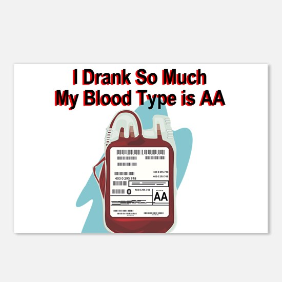 blood-type.png Postcards (Package of 8)