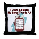 blood-type Throw Pillow