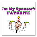 sponsors-favorite Square Car Magnet 3