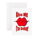 kiss-me-sober-2 Greeting Cards