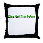 kiss-me-sober Throw Pillow