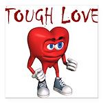 tough-love Square Car Magnet 3