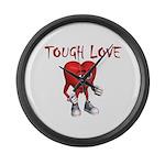 tough-love Large Wall Clock