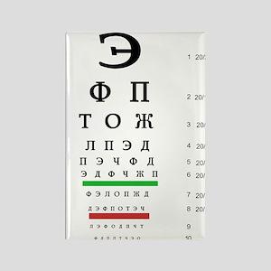 Snellen Cyrillic Eye Chart Magnets
