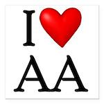 2-i-love-aa Square Car Magnet 3