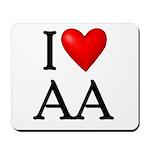 2-i-love-aa Mousepad