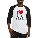 2-i-love-aa Baseball Jersey