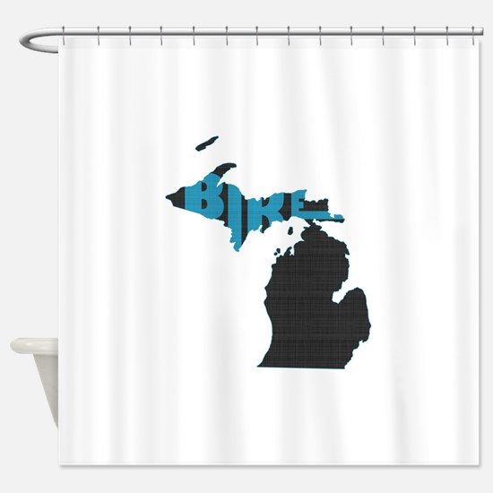 Bike Michigan Shower Curtain
