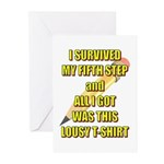 survived-fifth-step Greeting Cards