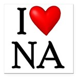 i-love-na Square Car Magnet 3