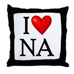 i-love-na Throw Pillow
