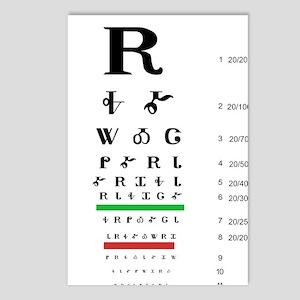 Snellen Cherokee Eye Postcards (package Of 8)