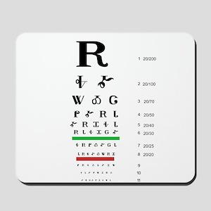 Snellen Cherokee Eye Chart Mousepad