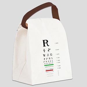 Snellen Cherokee Eye Chart Canvas Lunch Bag