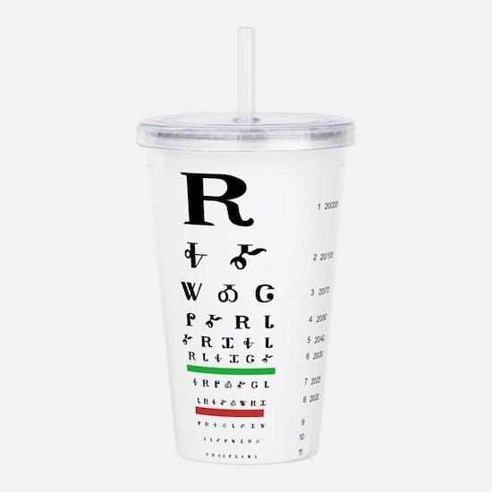 Snellen Cherokee Eye Chart Acrylic Double-wall Tum