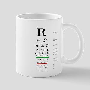 Snellen Cherokee Eye Chart Mugs