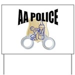 aa-police Yard Sign